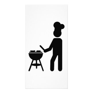 BBQ barbecue Cook chef Personalized Photo Card