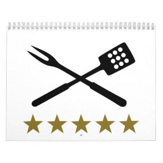 BBQ barbecue Cutlery Calendar