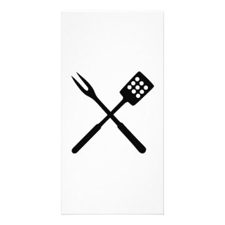 BBQ barbecue Cutlery Photo Card Template
