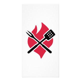 BBQ barbecue Fire Photo Card
