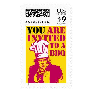BBQ (Barbecue) invitation Postage