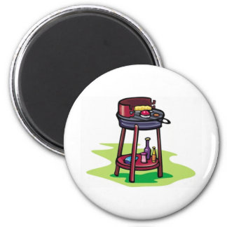 BBQ barbeque cooking cartoon summer foods dinner Magnets