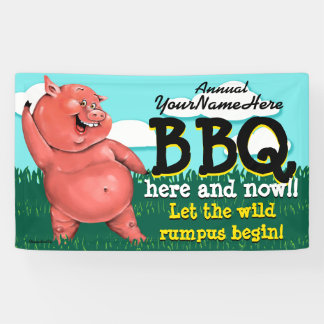 BBQ.Barbeque.Pig Roast.Grill.Cookout.Customizable Banner