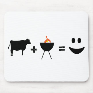 BBQ Beef Happy Mouse Pad