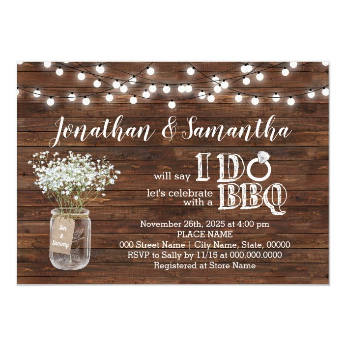 S Shower Country Chic Invitation