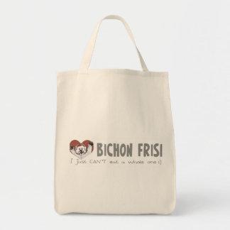 BBQ Bichon Frise Canvas Bags