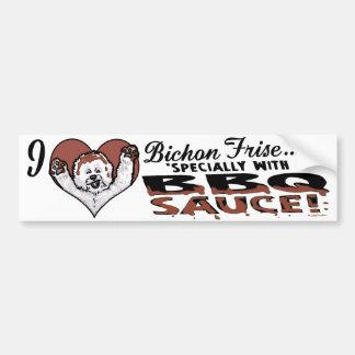 BBQ Bichon Frise Bumper Sticker