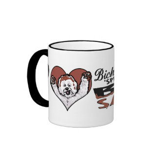 BBQ Bichon Frise Ringer Mug