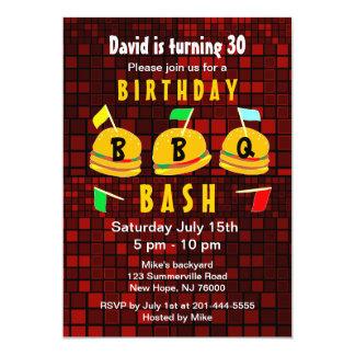 BBQ Birthday Party Invitation