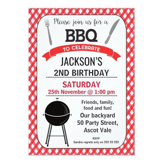 bbq birthday party invitation zazzle com