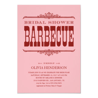 Bridal Bbq Couples Shower Invitations