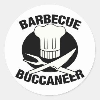 BBQ Buccaneer Classic Round Sticker