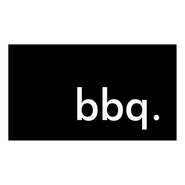 Bbq Business Card