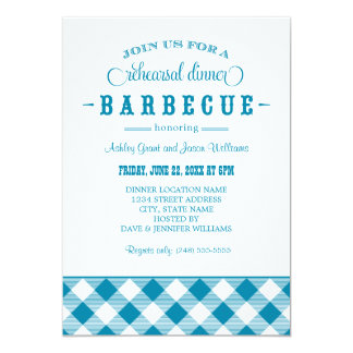 Bbq casual de la invitación el | de la cena del invitación 12,7 x 17,8 cm