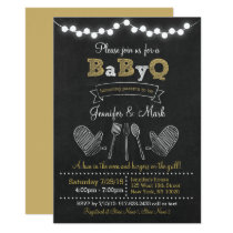 BBQ Chalkboard Baby Shower Card