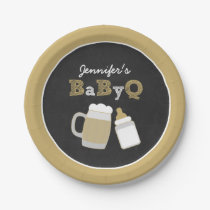 BBQ Chalkboard Baby Shower Paper Plates