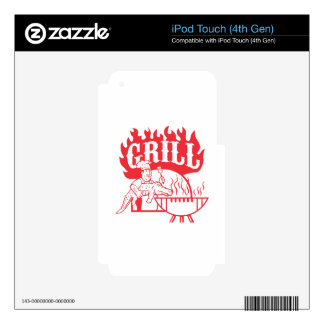 BBQ Chef Carry Gator Grill Retro iPod Touch 4G Skins