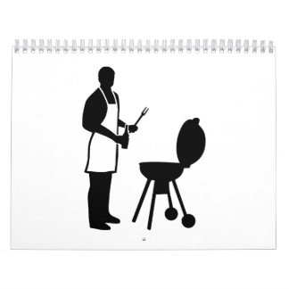 BBQ chef cook Wall Calendar