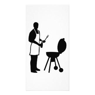 BBQ chef cook Custom Photo Card