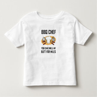 BBQ Chef Smell Butts Toddler T-shirt