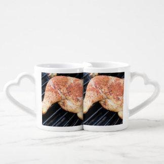 BBQ Chicken Couples' Coffee Mug Set