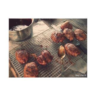 BBQ Chicken Dinner Canvas Print