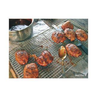 BBQ Chicken Dinner-light Canvas Print