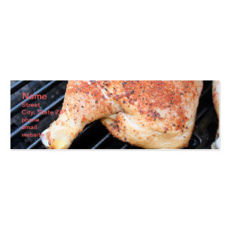 BBQ Chicken Double-Sided Mini Business Cards (Pack Of 20)