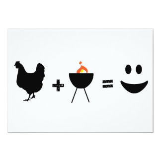 BBQ Chicken Happy 13 Cm X 18 Cm Invitation Card