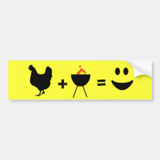 BBQ Chicken Happy Bumper Sticker