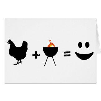 BBQ Chicken Happy Greeting Cards
