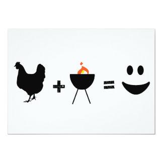 BBQ Chicken Happy Custom Invitations