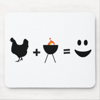 BBQ Chicken Happy Mouse Pad