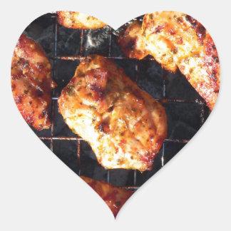 BBQ Chicken Heart Sticker