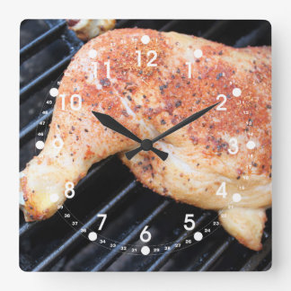 BBQ Chicken Square Wall Clock