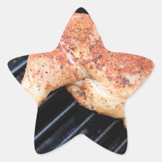 BBQ Chicken Star Sticker