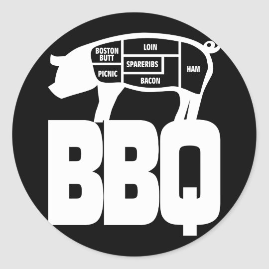 BBQ CLASSIC ROUND STICKER