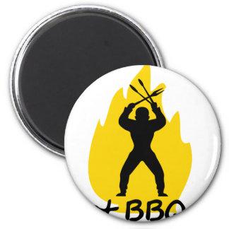 ¿Bbq conseguido con el icono de la llama Imán De Frigorífico
