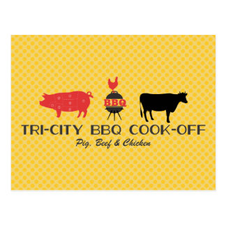 BBQ Cook-off Postcard