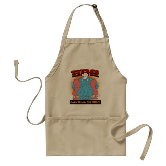 BBQ  Cookin with the BIG DOGS! Adult Apron