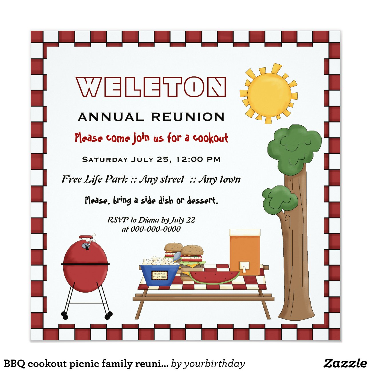 Ideas For Family Reunion Invitations as great invitation template