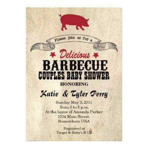BBQ Couples BABY Shower Invite