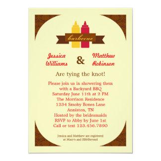 BBQ Couples Bridal Shower Invitation