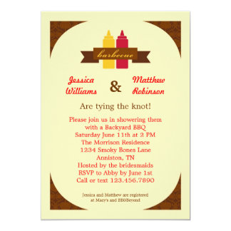 bbq couples bridal shower invitation