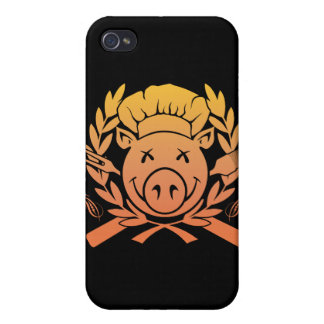 BBQ Crest Fade iPhone 4/4S Cases