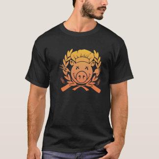 BBQ Crest - sunset fade dark shirt