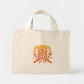 BBQ Crest - sunset fade Mini Tote Bag