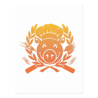 BBQ Crest - sunset fade Postcard