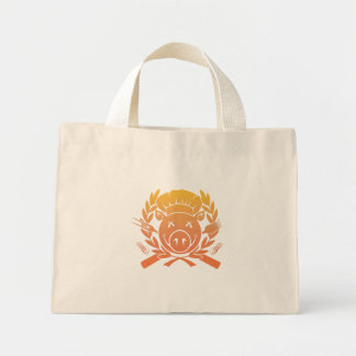 BBQ Crest - sunset fade Tote Bags