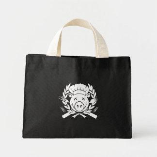BBQ Crest - white print Tote Bags
